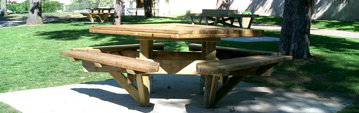 627162tablecarre Table bancs CARREE