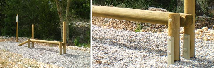 Parcours sportif bois poutres d quilibre pour parcours - Parcours du combattant jeu ...