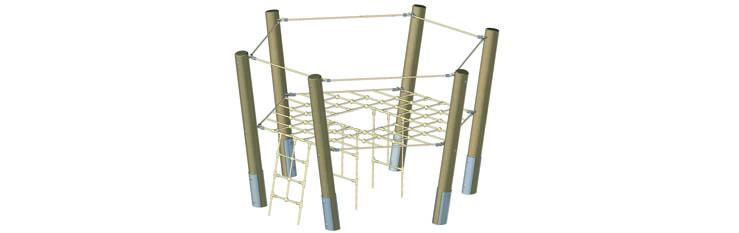 610 016 Filet hexagonal / cheminée